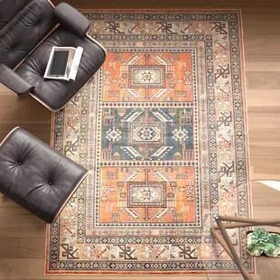 ovid oriental tangerine rust area rug