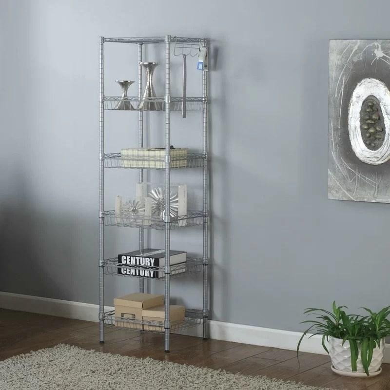 jurgensen 63 h x 13 w x 13 d wire shelving rack shelf unit