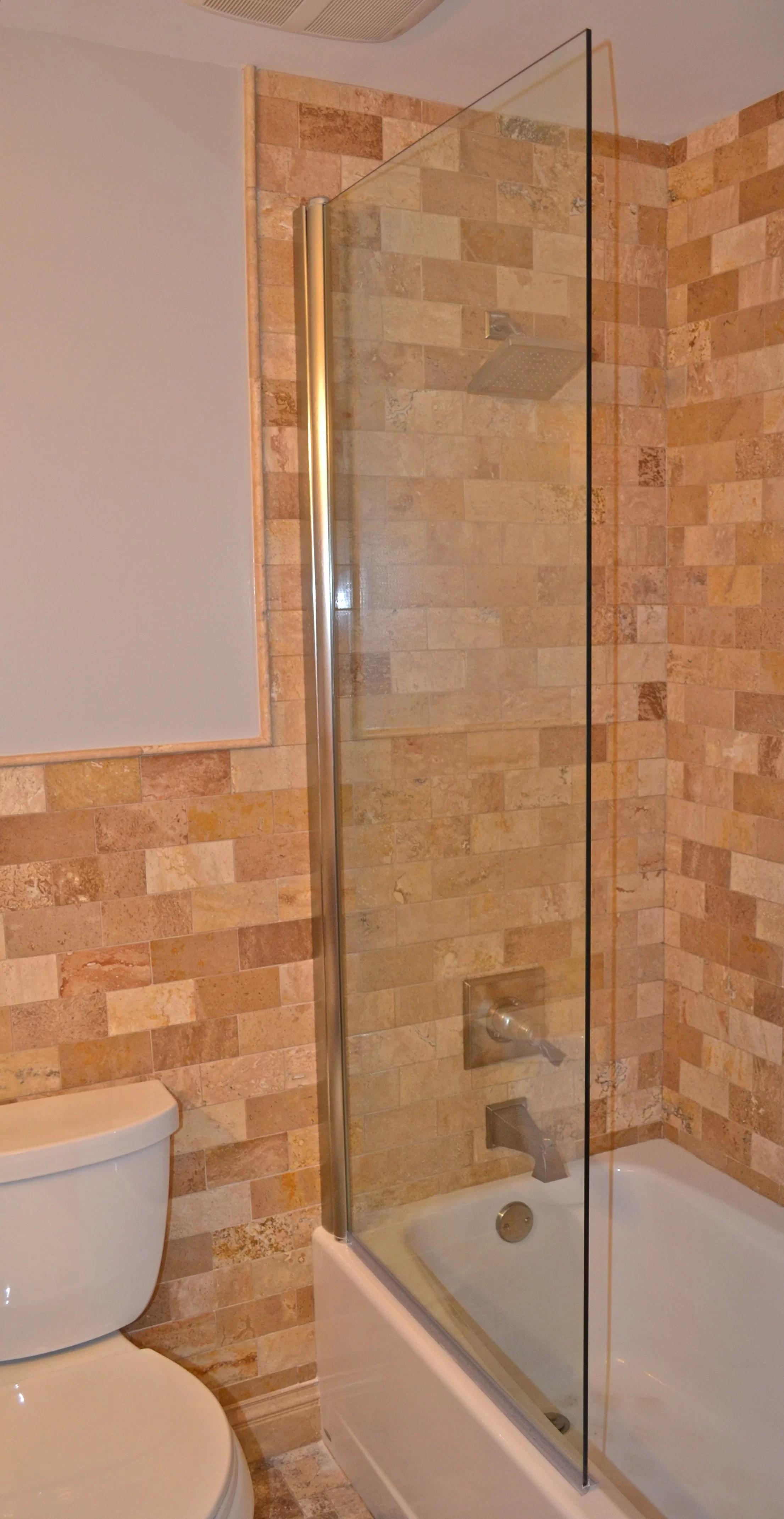 30 X 70 Pivot Semi Frameless Tub Door