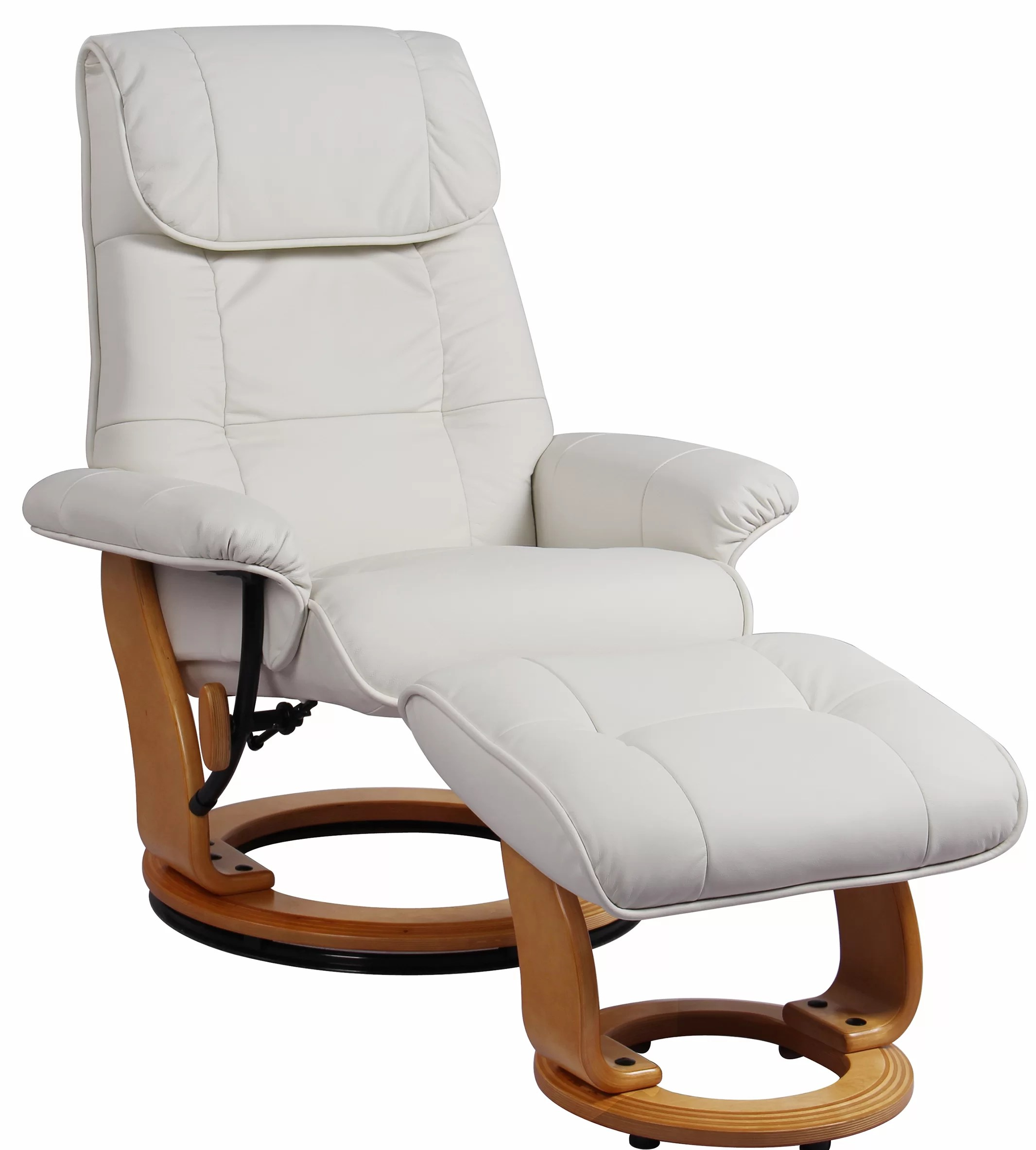 beaucet manual swivel recliner with ottoman