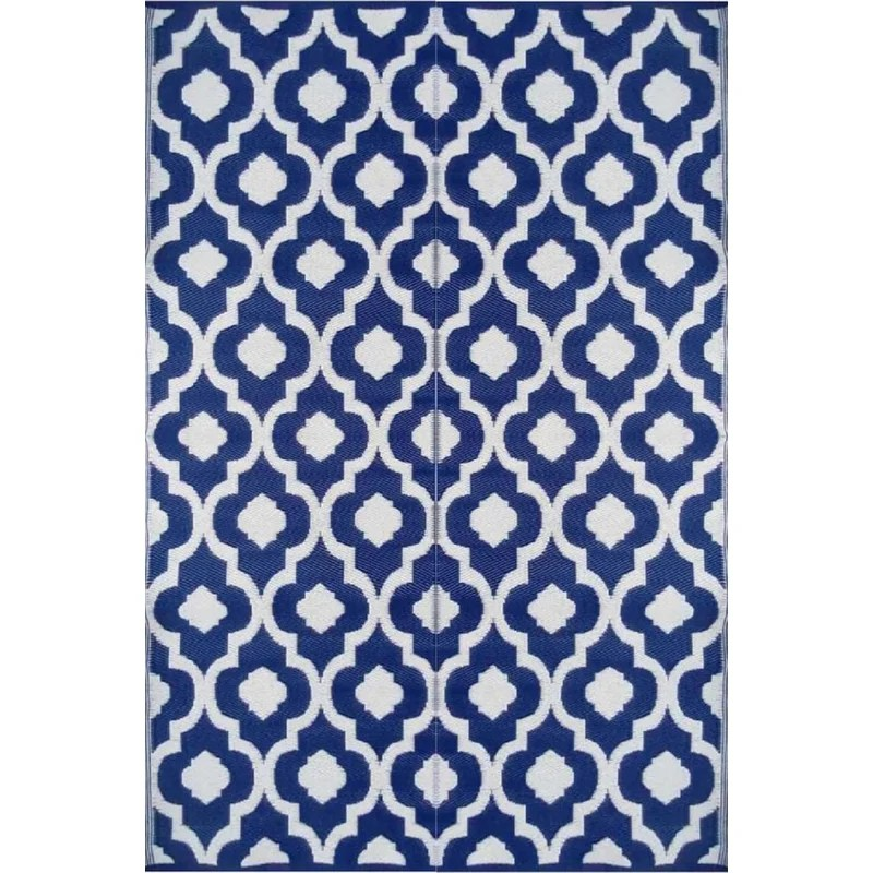 mendell geometric navy blue white indoor outdoor area rug