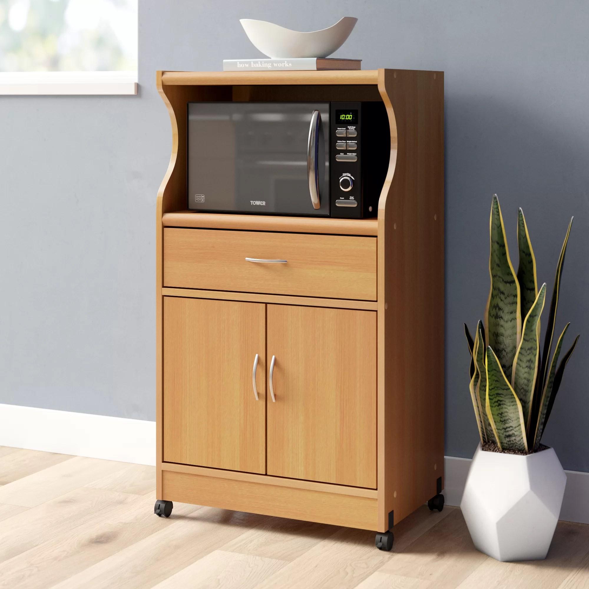 franchezca microwave kitchen cart