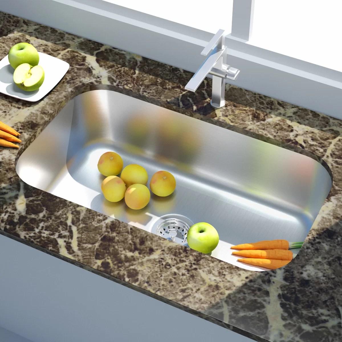 31 l x 21 w undermount kitchen sink with soap dispenser