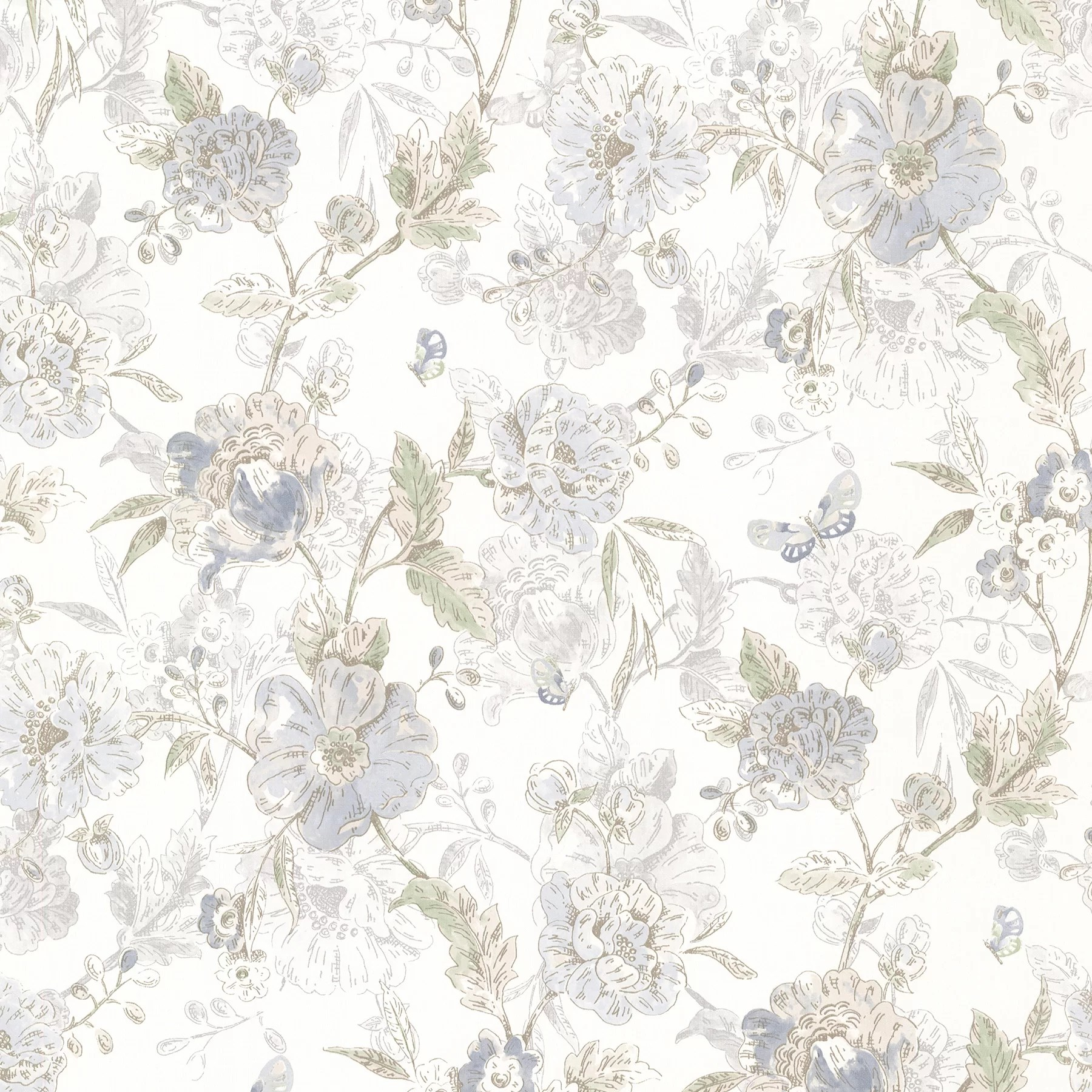 Ophelia Co Jianyu 33 X 20 5 Butterfly Peony Trail Vintage Wallpaper Roll Reviews Wayfair
