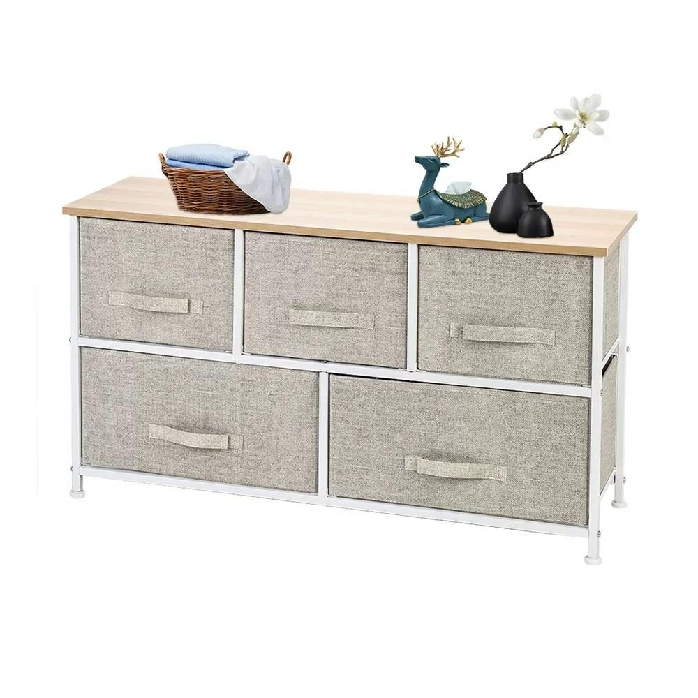 chouchanik fabric 5 drawer dresser