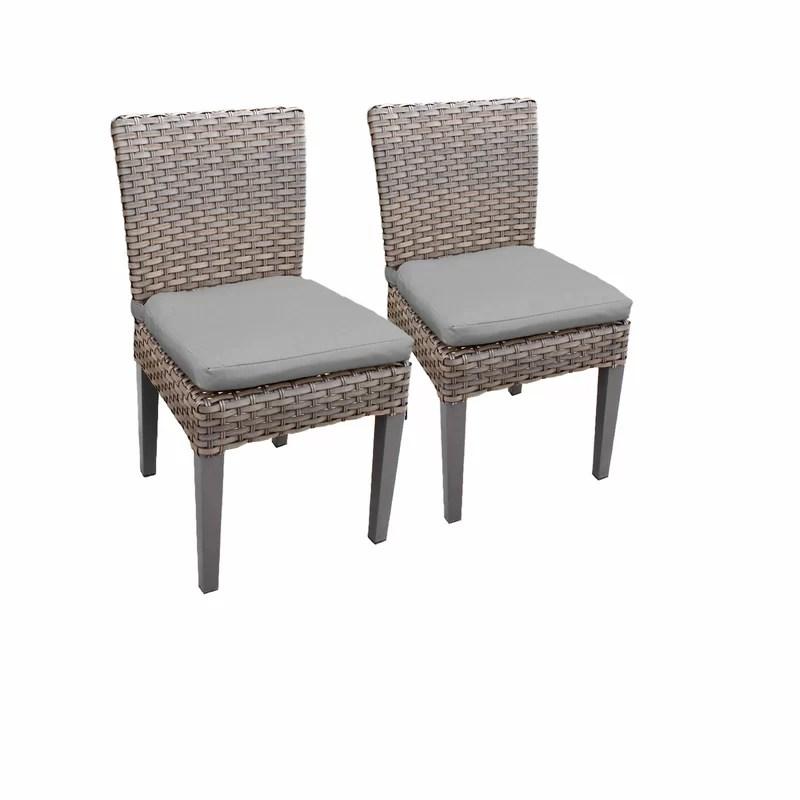 rochford armless patio dining chair with cushion