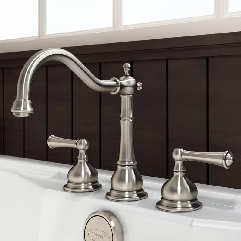 barrea double handle deck mounted roman tub faucet