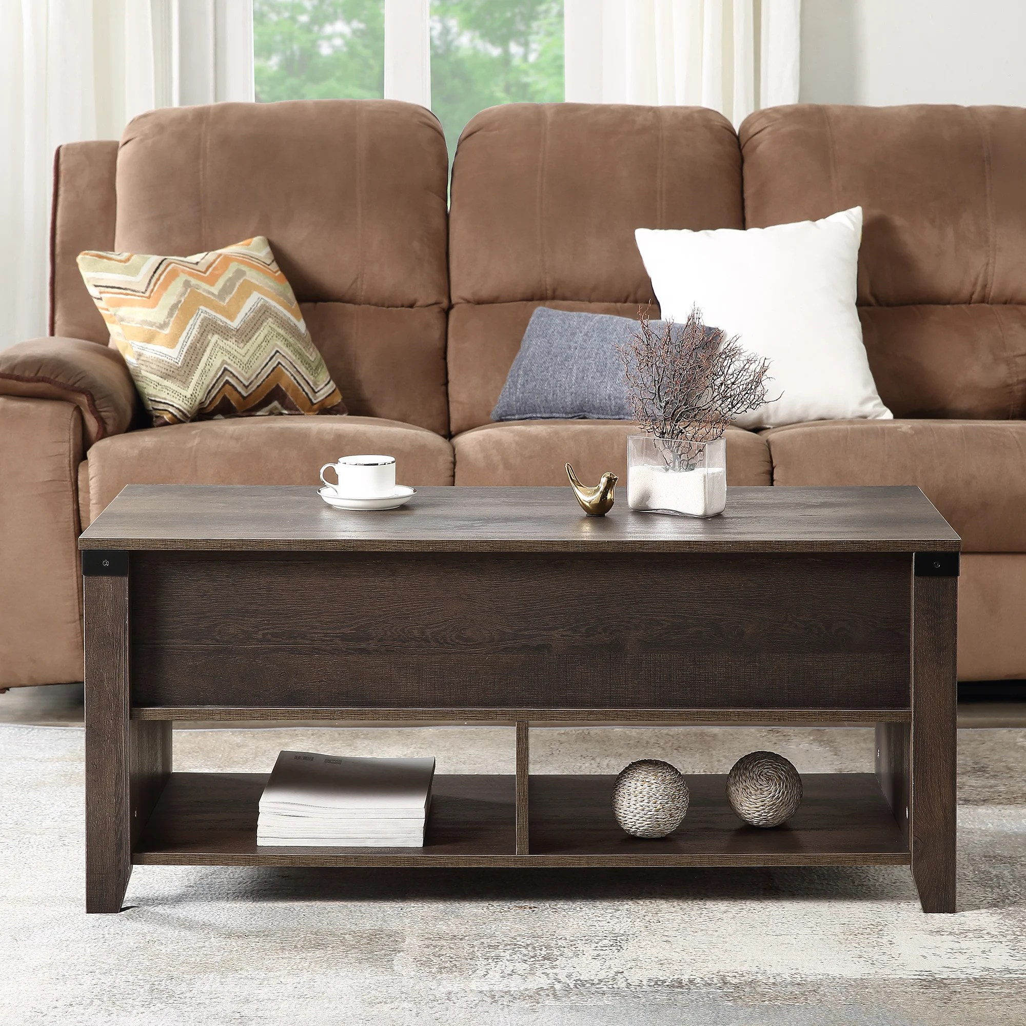 kanyi lift top coffee table with storage