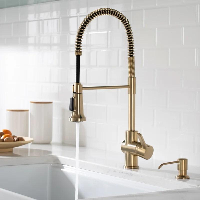 britt pull down single handle kitchen faucet