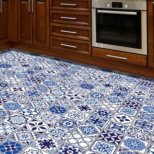 spanish and moroccan blue tiles wall decal