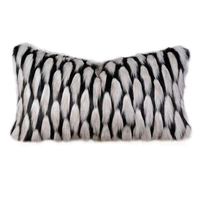 sophia faux fur lumbar pillow