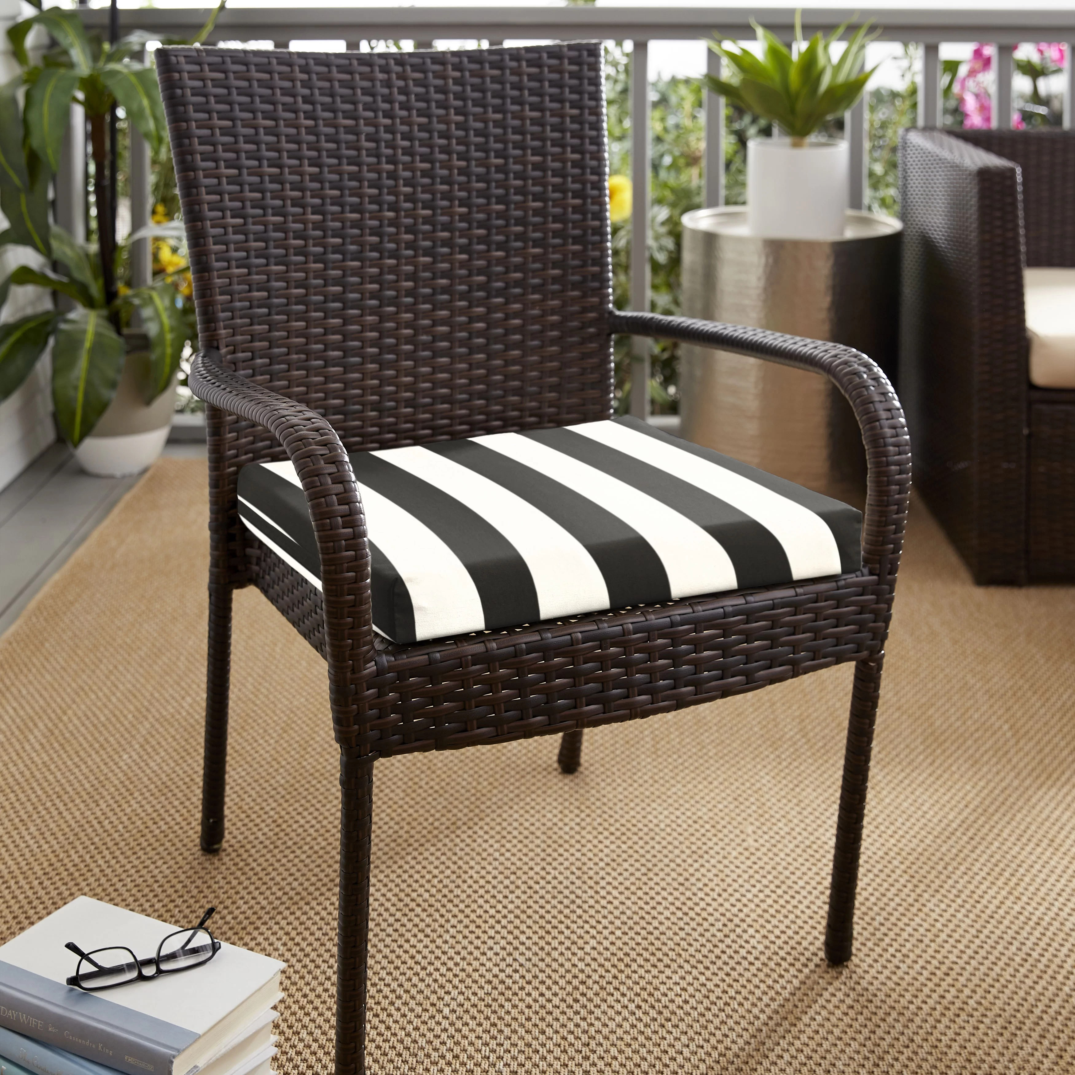 cabana classic indoor outdoor sunbrella dining chair cushion