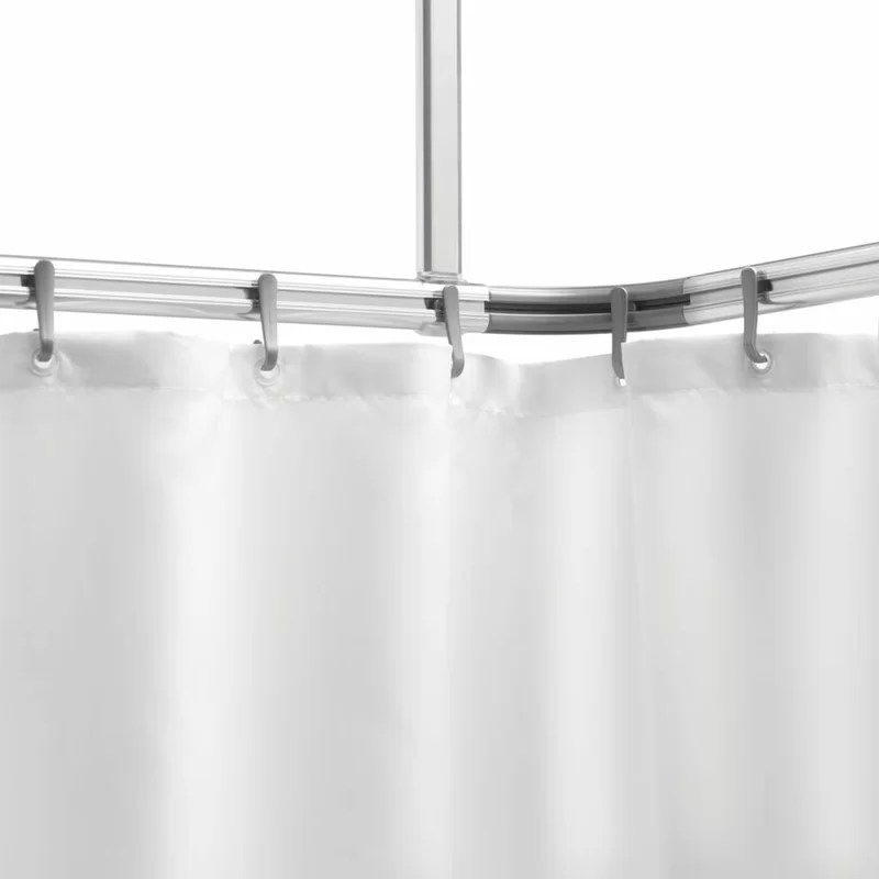 langevin 1 5cm curved fixed shower curtain rail ring set