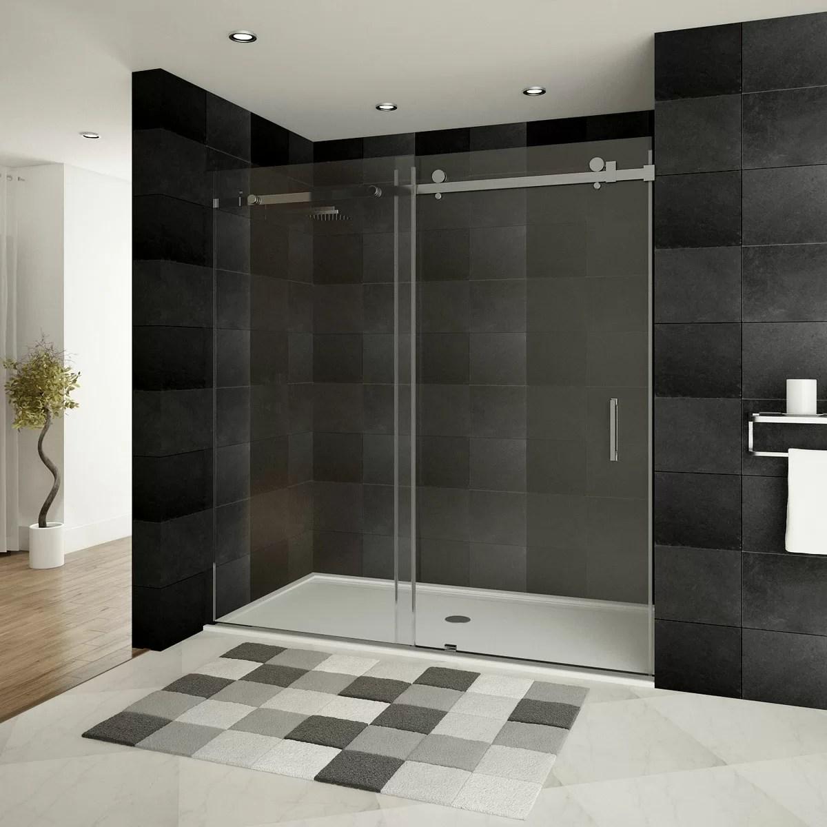 Ultra B 60 X 76 Single Sliding Frameless Shower Door