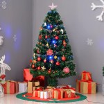 The Holiday Aisle 4 Green Fir Artificial Christmas Tree With 130 Multi Colored Lights Reviews Wayfair