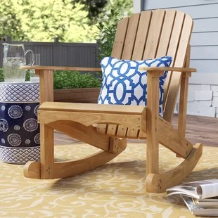 chartier solid wood glider adirondack chair