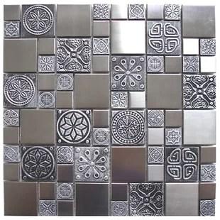 eden mosaic tile floor wall tile 12 x 12 metal mosaic tile