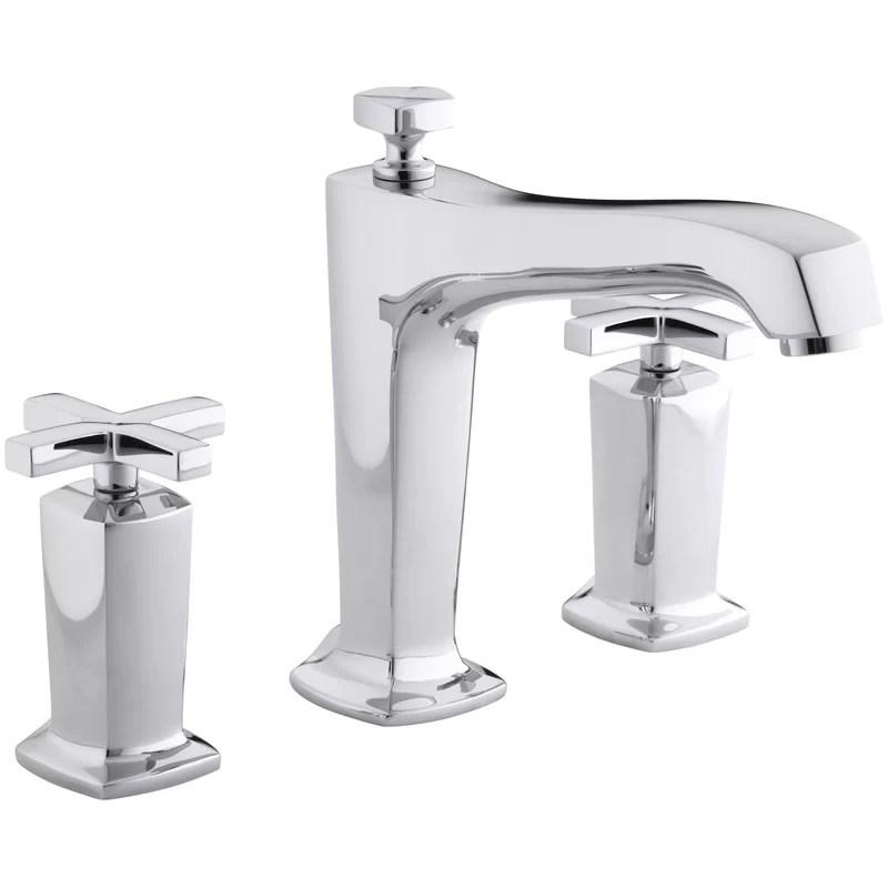 margaux double handle deck mounted roman tub faucet trim