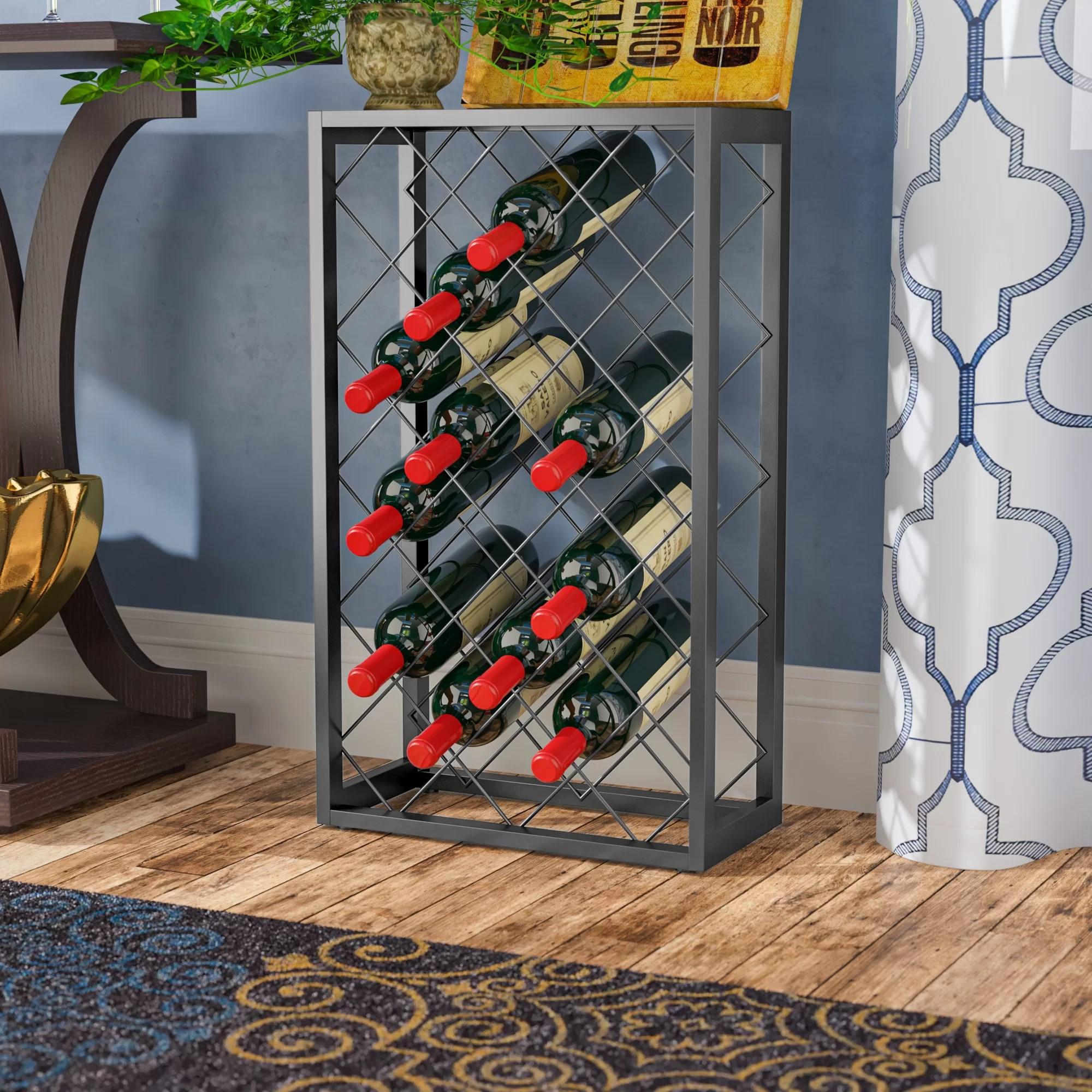 32 bottle steel metal wine rack w