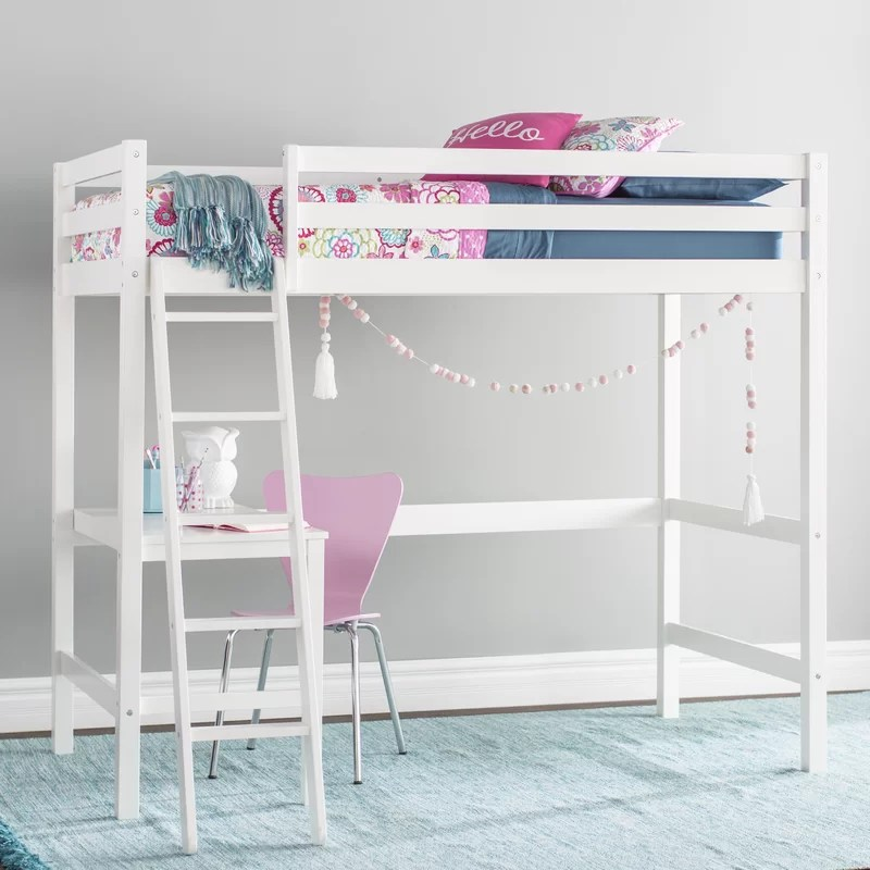 Nickelsville Twin Loft Bed with Desk