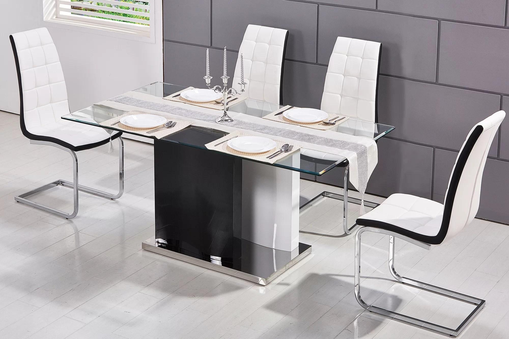 Orren Ellis Kingsdown Modern Glass Dining Table Reviews Wayfair