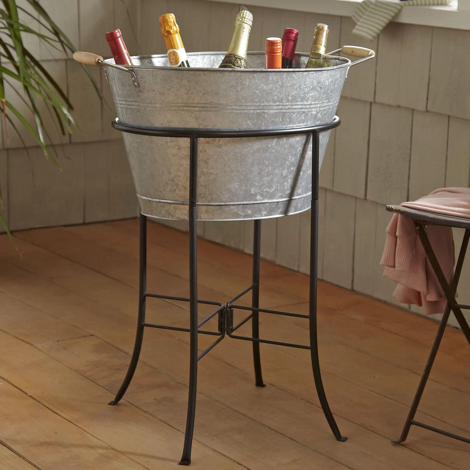Hoyleton Beverage Tub With Stand Reviews Birch Lane