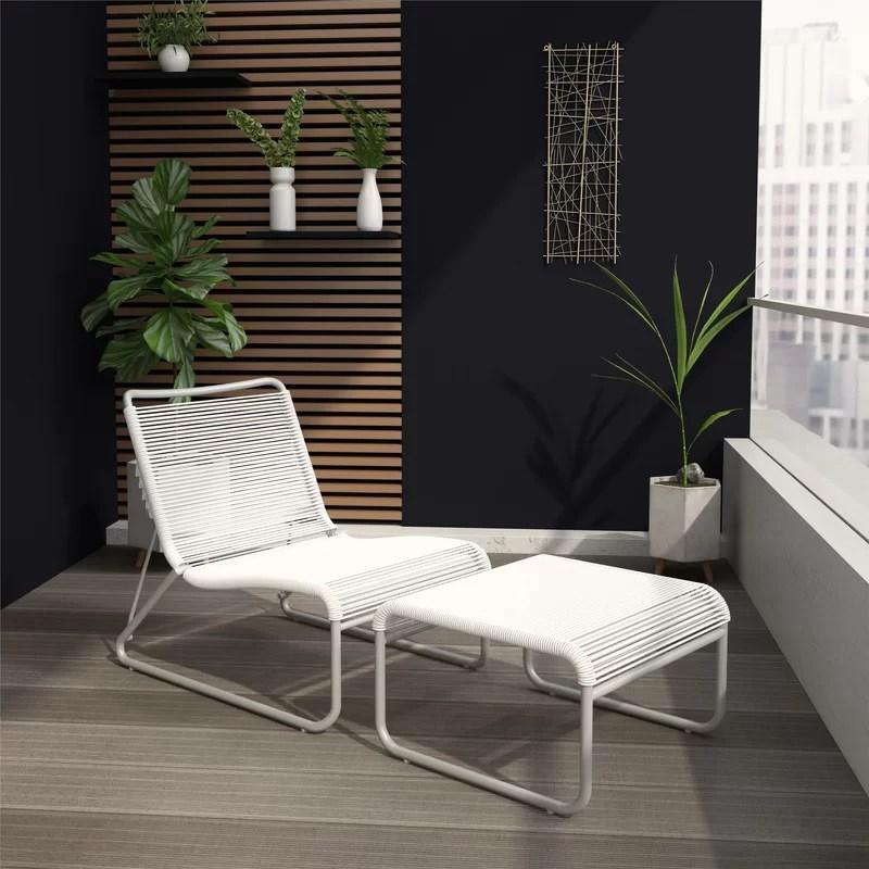 lita recliner patio chair and ottoman