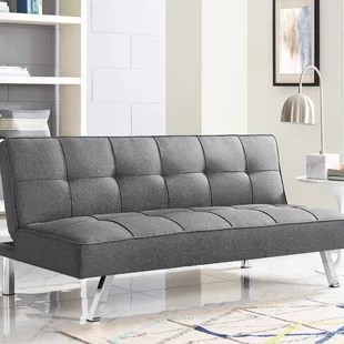 twin 66 1 wide tufted back convertible sofa