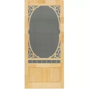 unfinished pine slab screen doors