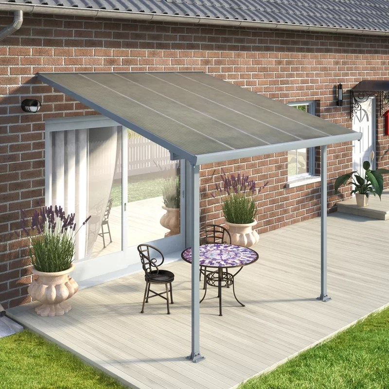 feria 10 ft w x 10 ft d plastic standard patio awning