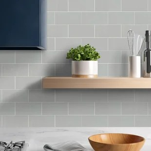 glossy 3 x 6 ceramic patterned subway wall floor tile
