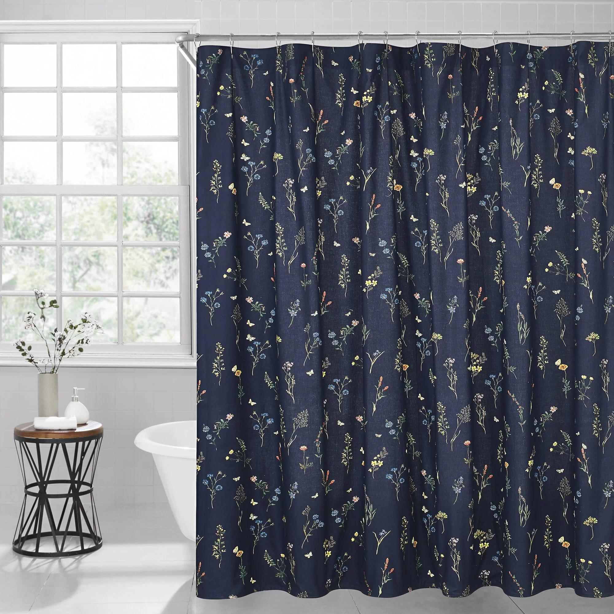 vanissea 100 cotton floral single shower curtain