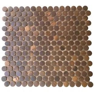 penny 0 8 x 0 8 metal mosaic tile