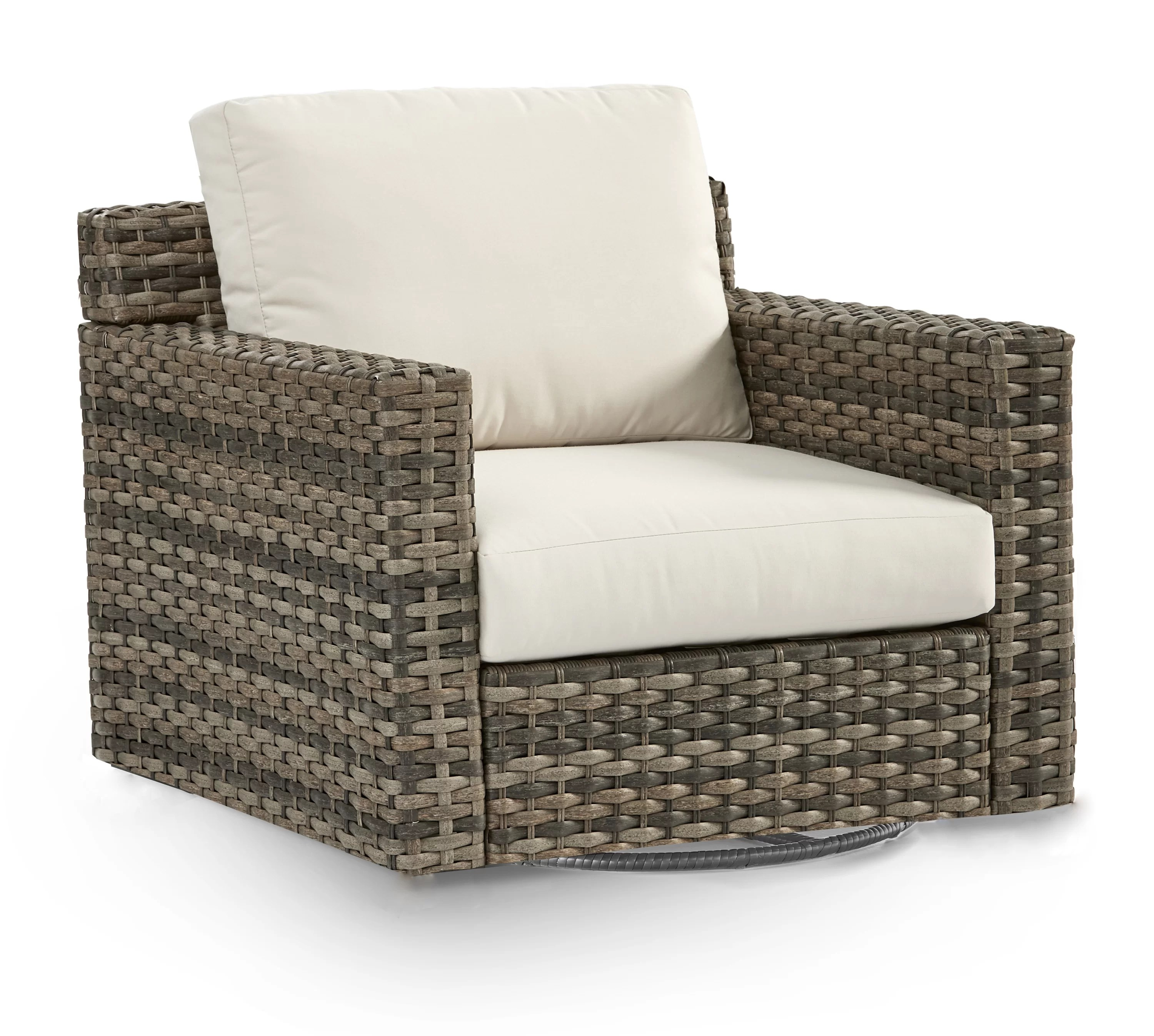 varney patio glider chair with cushion