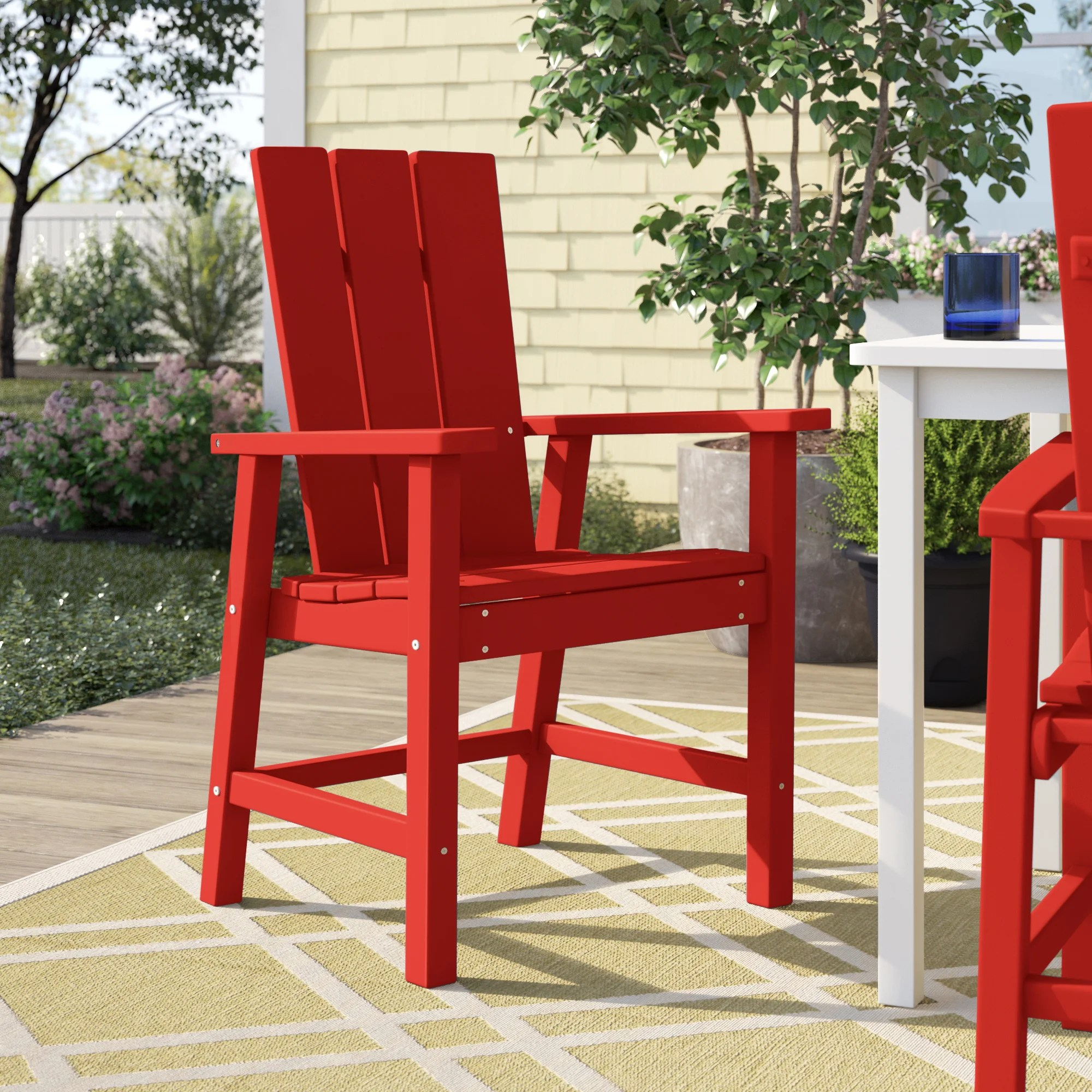 red patio dining chairs you ll love in