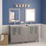 Wade Logan Karson 60 Double Bathroom Vanity Set With Mirror Reviews Wayfair