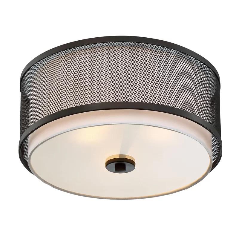 Modern Black Flush Mount Ceiling Light