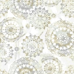 "Iliana Bohemian 16.5' L x 20.5"" W Floral and Botanical Peel and Stick Wallpaper Roll"