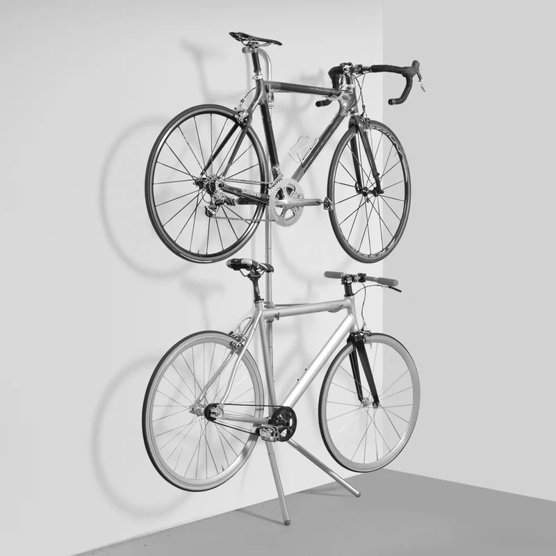 wayfair basics 2 bike freestanding bike rack