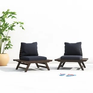 bullock patio chair with cushions set of 2