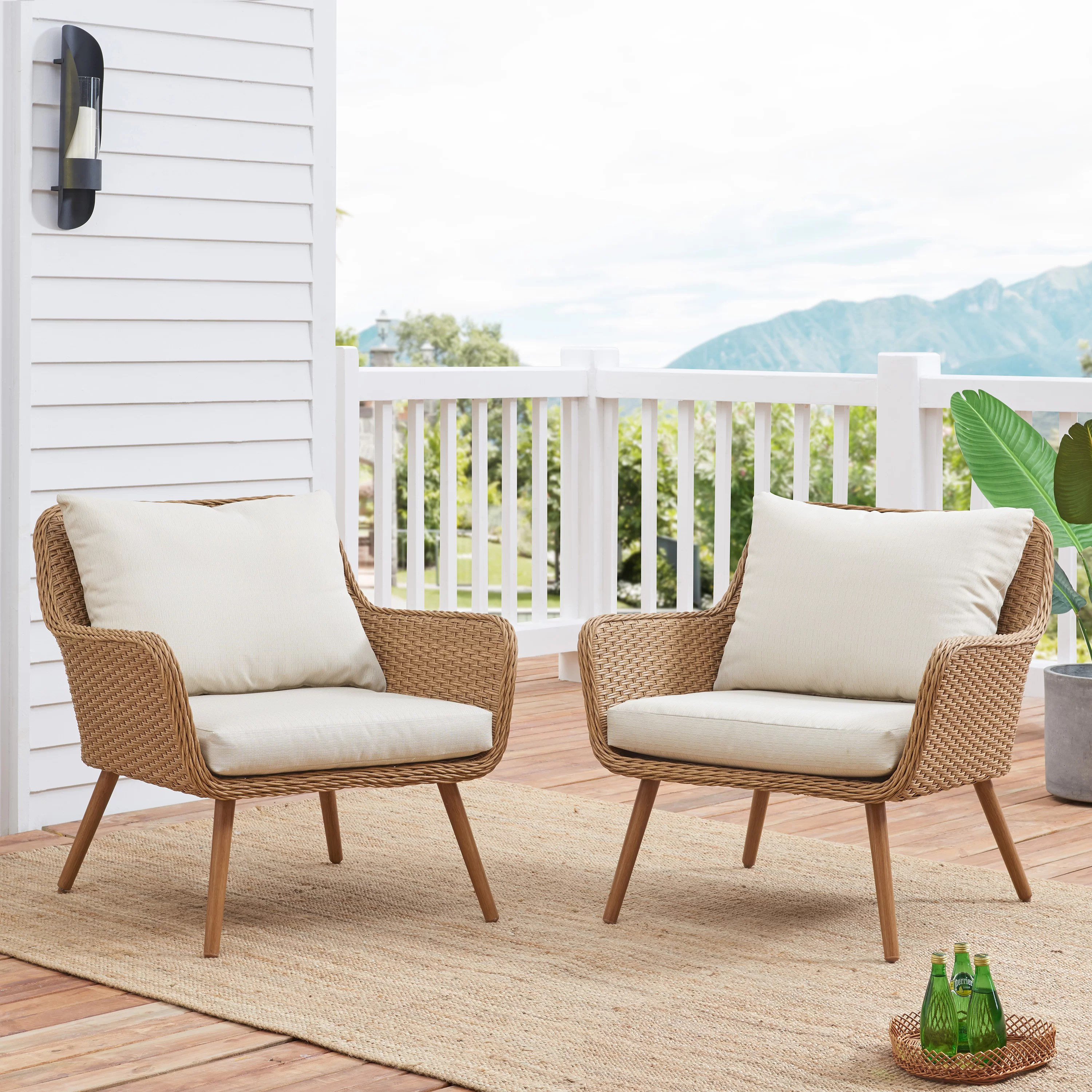 Chamond Outdoor Patio Chair With Cushions Reviews