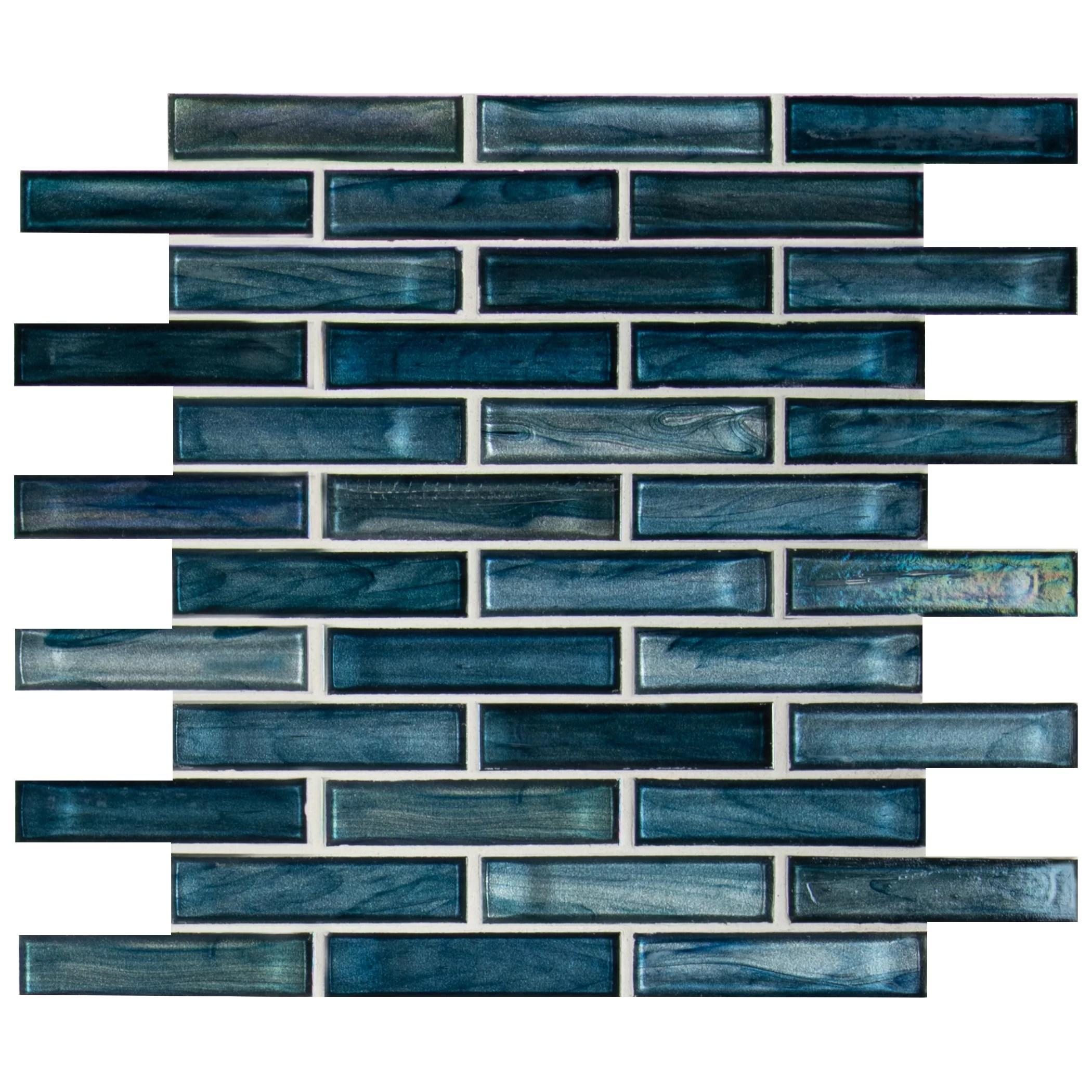 oasis blast 12 x 12 glass mosaic tile