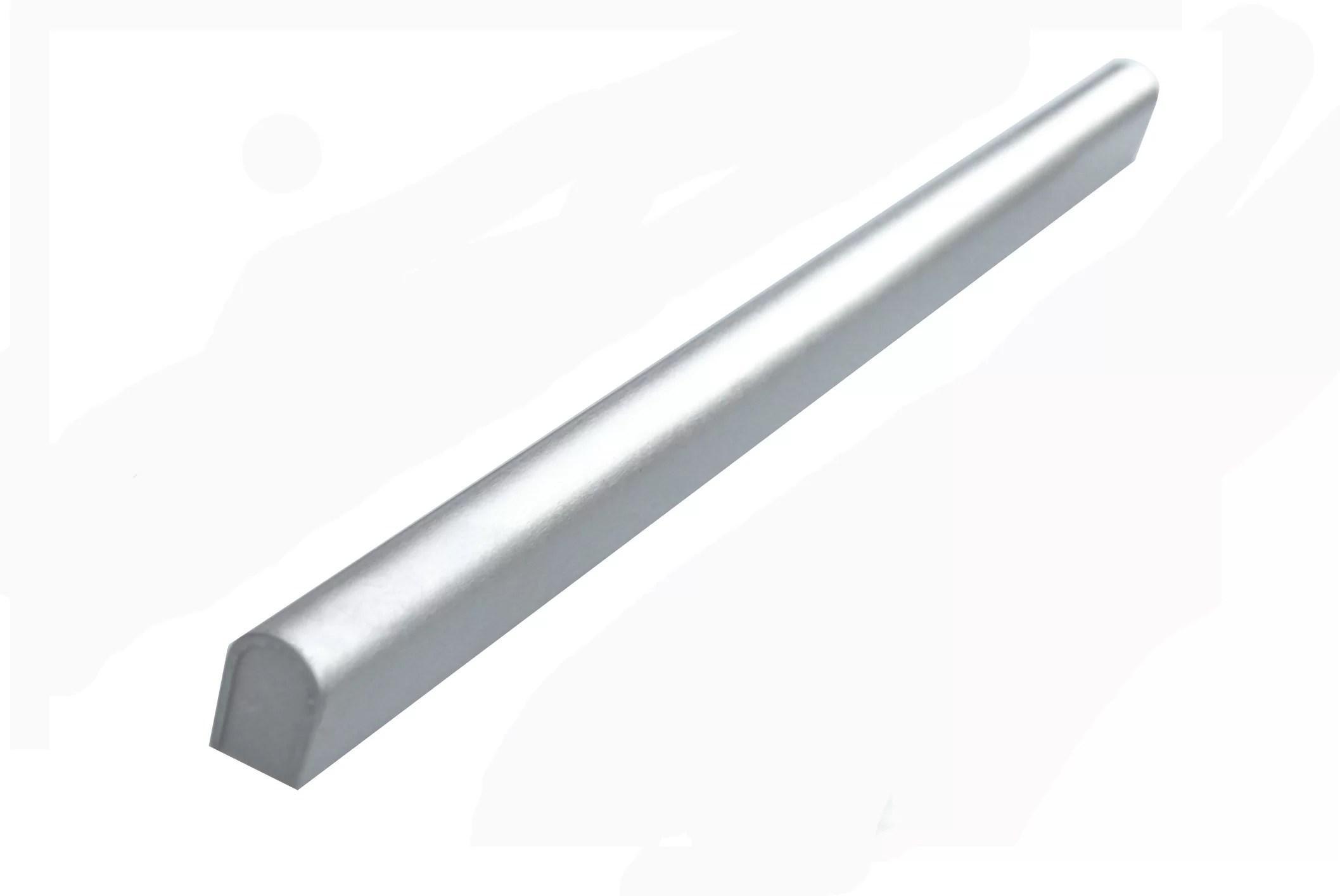 0 5 x 12 metal pencil liner tile trim in stainless steel
