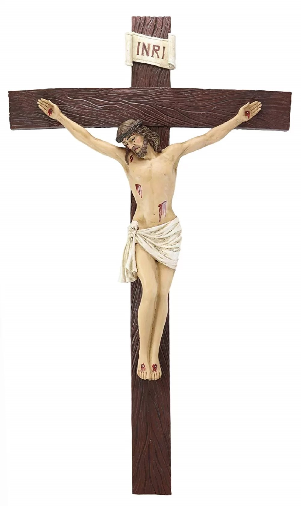 World Menagerie High Inri Jesus Christ Crucified On The Cross Wall Decor Wayfair