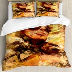 East Urban Home Airplane Abstract Portrait Male Pilot With Fighter Plane Pastel Dramatic Sky Duvet Cover Set Wayfair Ca