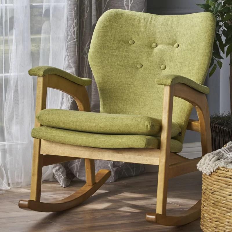 saulsberry fabric rocking chair