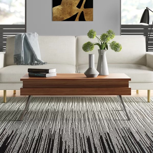 modern contemporary stone top coffee table