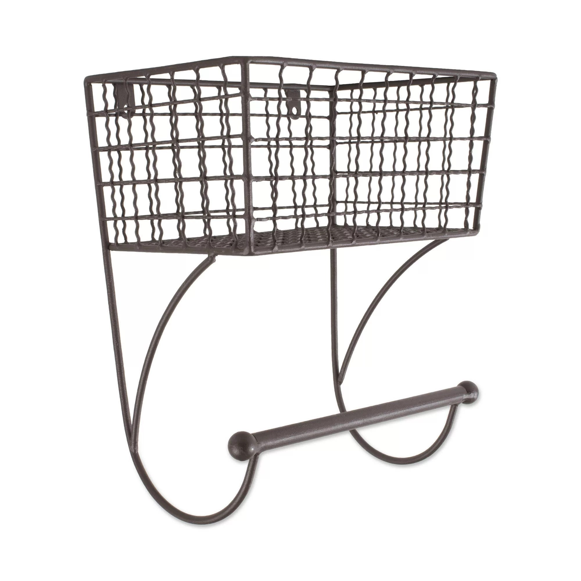 Design Imports Wire Bar Farmhouse Wall Mounted Towel Rack