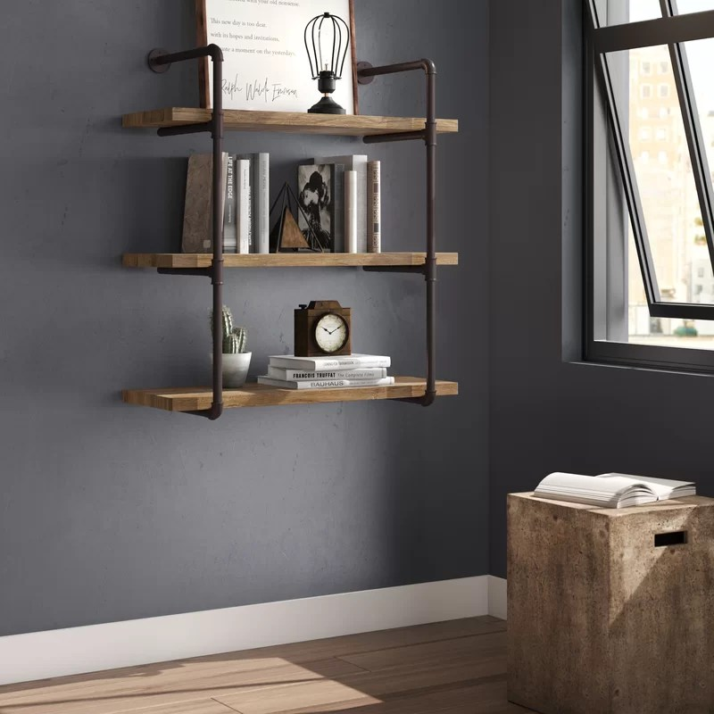 Gray Bookcase With Doors