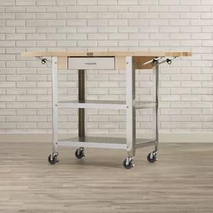 chariot de cuisine avec plateau en bois cucina americana par john boos